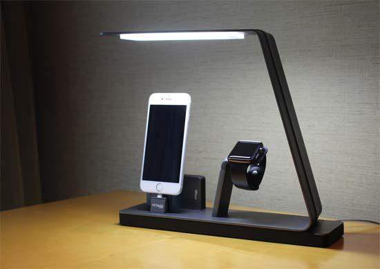 nudock la lmpara de mesilla de noche que ilumina y permite recargar dispositivos apple - Lamparas De Mesilla