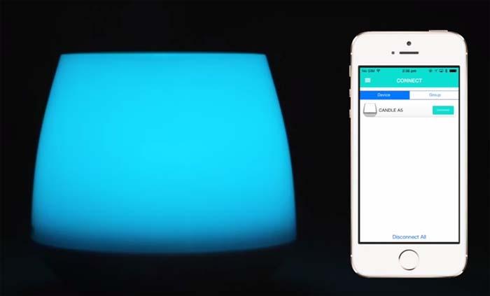 vela digital- MiPow- Playbulb- luz- LED- Smart phones- tablets