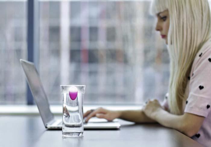 Ulla – sensor – luz - botella - agua