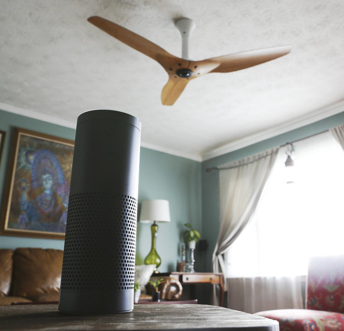 Alexa – ventiladores - Amazon Eco - Eco Dot - Tap Amazon - ventiladores de techo de Haiku® - Big Ass Fans – Spotify- control de voz