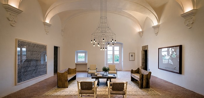 Houzz, LED - Vibia - lámpara de araña - Wireflow Chandelier