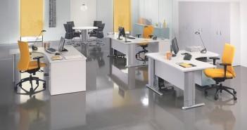 oficina, diseño, iluminación