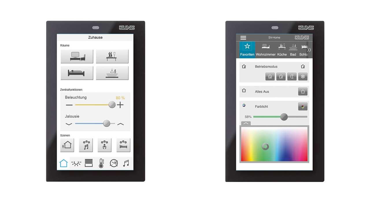 jung presenta su nuevo panel smart control para el control dom tico en viviendas smart. Black Bedroom Furniture Sets. Home Design Ideas