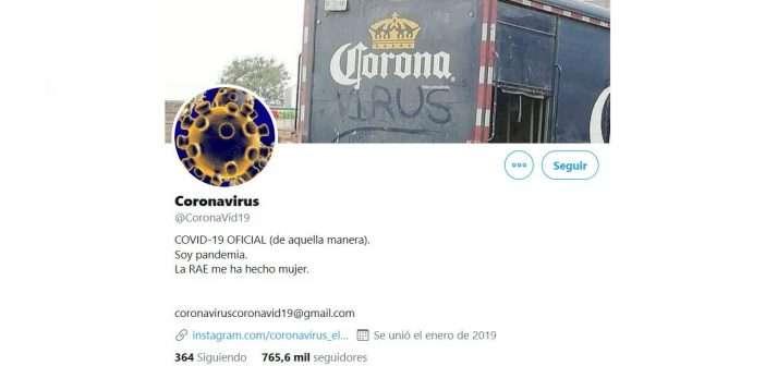¿Qué ocurre cuando el coronavirus se convierte en un personaje de Twitter?