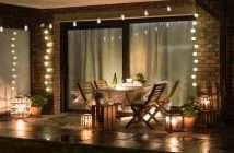 terraza, jardín, verano