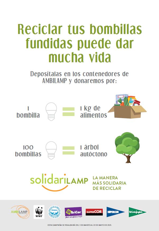 Solidarilamp, Ambilam, reciclaje, iluminación, El Corte Inglés