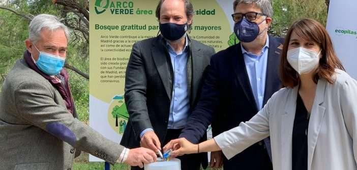 La recogida de 258 kg de residuos electrónicos y pilas permite reforestar una zona de alto valor biológico de la Comunidad de Madrid